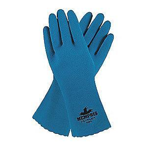 MCR Safety Chemical Resistant Gloves, Royal Blue