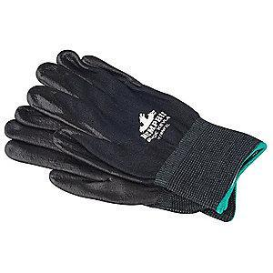 MCR Safety Nitrile Cut Resistant Gloves, ANSI/ISEA Cut Level A4 Lining, Black, XL, PR 1