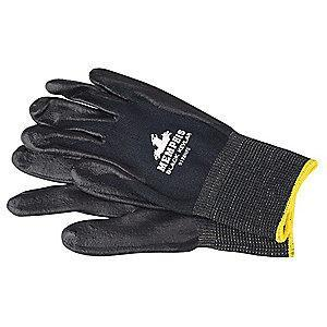 MCR Safety Nitrile Cut Resistant Gloves, ANSI/ISEA Cut Level A4 Lining, Black, S, PR 1