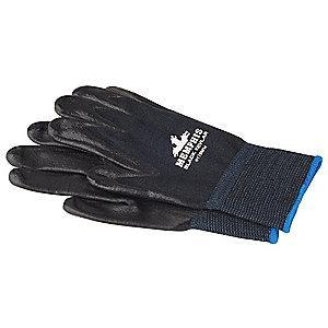 MCR Safety Nitrile Cut Resistant Gloves, ANSI/ISEA Cut Level A4 Lining, Black, M, PR 1