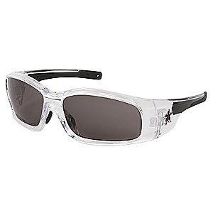 MCR Safety Swagger Anti-Fog, Scratch-Resistant Safety Glasses, Gray Lens Color