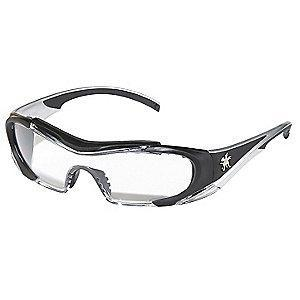 MCR Safety Hellion Anti-Fog, Scratch-Resistant Safety Glasses, Clear Lens Color