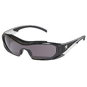 MCR Safety Hellion Anti-Fog, Scratch-Resistant Safety Glasses, Gray Lens Color