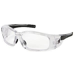 MCR Safety Swagger Anti-Fog, Scratch-Resistant Safety Glasses, Clear Lens Color