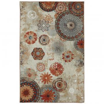 Mohawk Alexa Medallion 5 ft. x 8 ft. Outdoor Printed Patio Area Rug in Brown