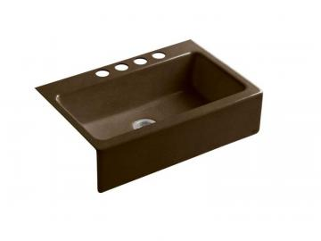 Kohler Dickinson Apron-Front, Undercounter Kitchen Sink With Four-Hole Oversized Centers