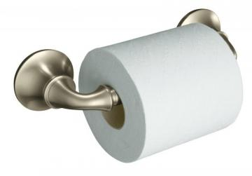 Kohler Forté Sculpted Toilet Tissue Holder in Vibrant Brushed Nickel