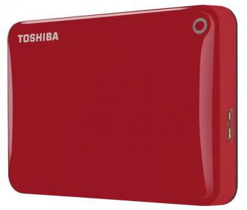 Toshiba Canvio Connect II USB 3.0 Portable Hard Drive, Red - 1TB
