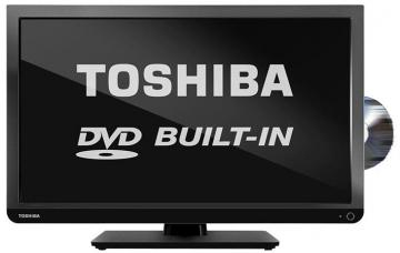 "Toshiba 24"" LED TV with Built-In DVD Player HD Ready"