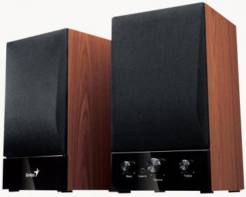 Genius SP-HF1250B 2-Way 40W Hi-Fi Wood Speakers (Pair)