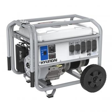 Hyundai 6,850 Watt Gas Powered Portable Generator With Wheel Kit