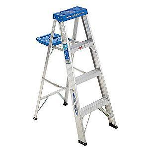 Werner 4 ft. 250 lb. Load Capacity Aluminum Stepladder