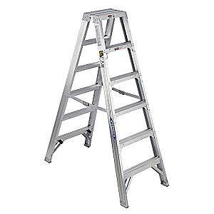 Werner 6 ft. 375 lb. Load Capacity Aluminum Stepladder