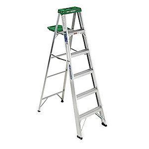 Werner 6 ft. 225 lb. Load Capacity Aluminum Stepladder