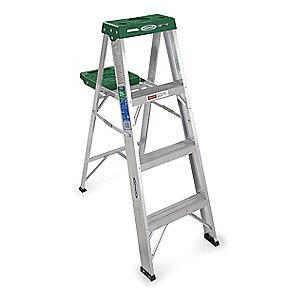 Werner 4 ft. 225 lb. Load Capacity Aluminum Stepladder