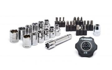 Husky 30pc 3/8 In. Thumbwheel Ratchet Set