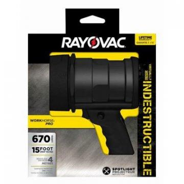 Rayovac Indestructible LED Spotlight, 6AA