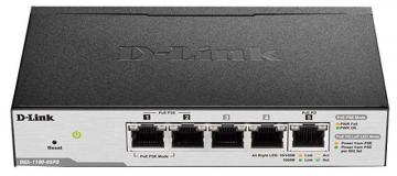 D-link 5 Port Gigabit PoE-Powered Smart Managed Desktop Switch