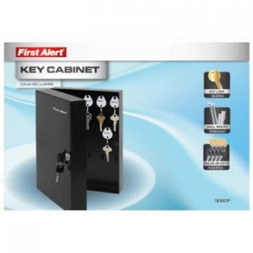 First Alert Key Cabinet, Wall-Mount, Steel, .2-Cu. Ft.