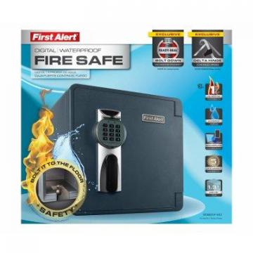 First Alert Waterproof & Fireproof Digital Safe, 1.32-Cu. Ft.