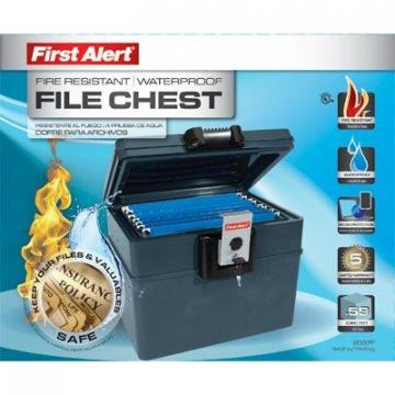 First Alert Fire & Waterproof Hanging File Chest Safe, 0.62-Cu. Ft.