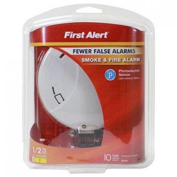 First Alert Photoelectric Smoke/Fire Alarm, 9V