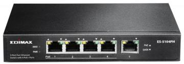 Edimax 5 Port Fast Ethernet Switch with 4 PoE+ Ports
