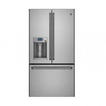 GE 22.1 cu. ft. Bottom-Mount French Door Refrigerator with Ice and Water in Stainless Steel