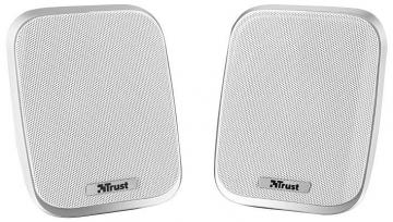 Trust Porto 2.0 Portable PC Speakers - 12W Peak Power White