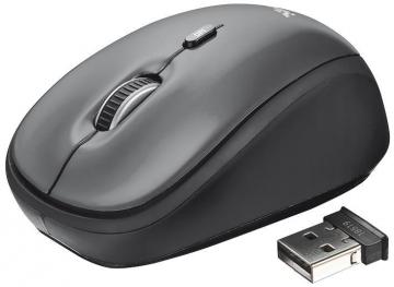 Trust Yvi Wireless Optical Mouse - Black