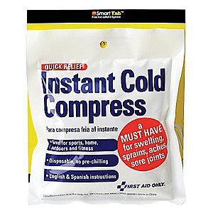 "First Aid Only 4"" x 5"" White Instant Cold Pack, 1EA"