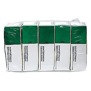 "First Aid Only 4"" x 5"" White Instant Cold Pack, 5PK"