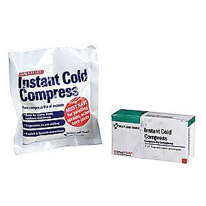 "First Aid Only 5"" x 4"" White Instant Cold Pack, 1EA"
