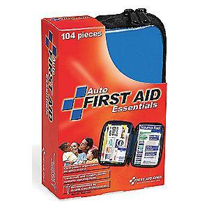First Aid Only First Aid Kit,  Fabric Case Material, Vehicle, 30 People Served Per Kit