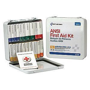 First Aid Only First Aid Kit,  Metal Case Material, General Purpose, 50 People Served Per Kit