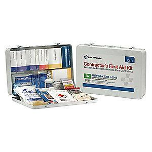 First Aid Only First Aid Kit,  Metal Case Material, Workplace, 50 People Served Per Kit