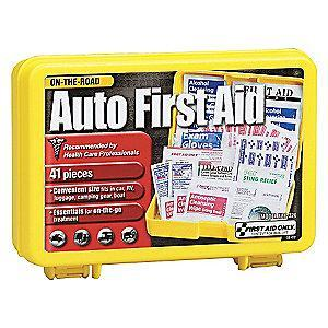 First Aid Only First Aid Kit,  Plastic Case Material, Vehicle, 15 People Served Per Kit