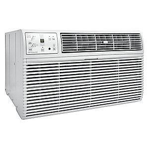 Frigidaire 208/230V Electric Wall Air Conditioner w/Heat, 9800/10,000 BtuH Cooling, Cool Gray