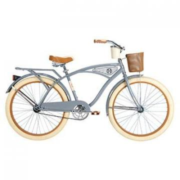 Huffy Men's Cruiser Bicycle, Flat Gray, 26""