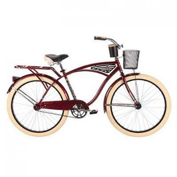 Huffy Men's Deluxe Cruiser Bicycle, Dark Brandywine, 26""