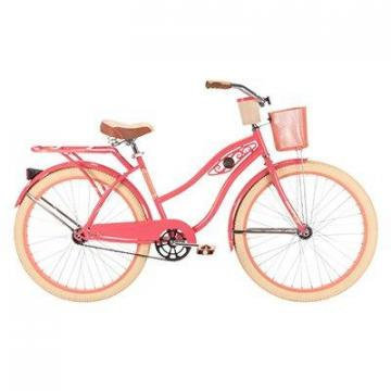 Huffy Ladies' Deluxe Cruiser Bicycle, Coral Radiance, 26""