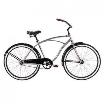 Huffy Men's Good Vibrations Bicycle, Powder Chrome, 26""