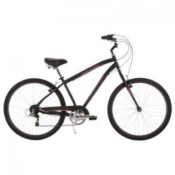 Huffy Men's Parkside City Bike, Matte Black, 26""