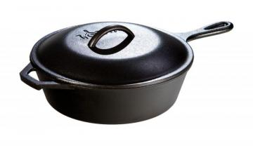 Lodge Logic Cast Iron Chicken Fryer Deep Skillet 3 Quart/10.25 Inch
