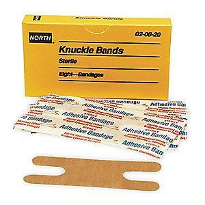 Honeywell Knuckle Bandage, Beige, Cloth, PK8