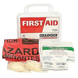 Honeywell First Aid Kit,  Polystyrene Case Material, General Purpose, 2 People Served