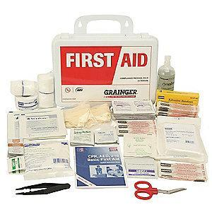 Honeywell First Aid Kit,  Polystyrene Case Material, General Purpose, 25 People Served