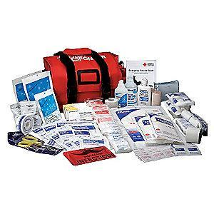 American Red Cross First Aid Kit,  Nylon Case Material, First Response, 1 People Served