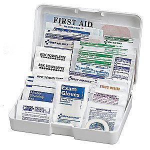 American Red Cross First Aid Kit,  Plastic Case Material, Vehicle, 1 People Served