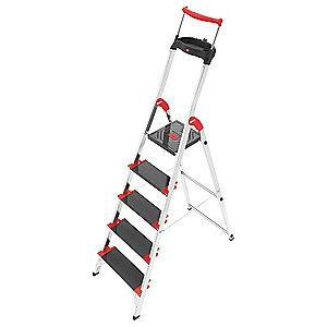 "Hailo Aluminum Platform Stepladder, 5 ft. 1"" Ladder Height, 3 ft. 6"" Platform Height, 330 lb."